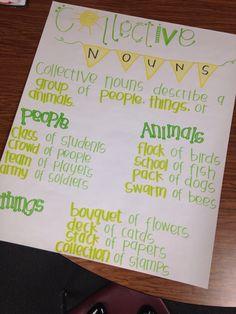 Collective Nouns anchor chart!