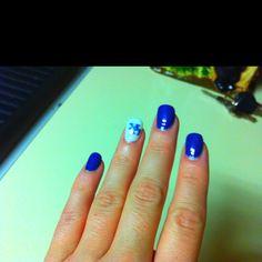 My KY Wildcats Nails! Uk Basketball, Kentucky Basketball, Kentucky Wildcats, Uk Nails, Hair And Nails, Royal Blue Nails, Beauty Tips, Beauty Hacks, Go Big Blue