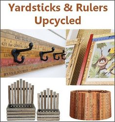 Yardsticks & Rulers upcycled into neat home decor - great ideas!