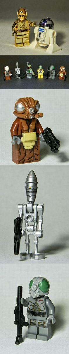 Custom made lego Star Wars minifigures!