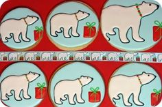 polar bear parade of cookies