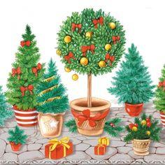 3646 Servilleta decorada Navidad
