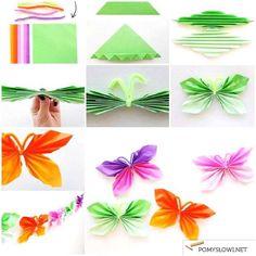 Motylki z papieru