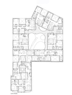 Building for 21 Houses,First Floor Plan