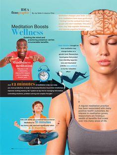 Meditation Boosts Wellness