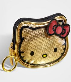 Hello Kitty Gold Sequined Coin Purse