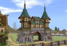 Minecraft Portal, Minecraft Kunst, Casa Medieval Minecraft, Minecraft Kingdom, Minecraft Building Guide, Minecraft House Plans, Minecraft Cottage, Cute Minecraft Houses, Amazing Minecraft