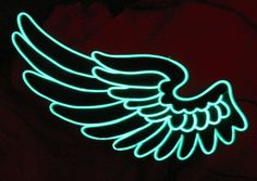 EL wire wings - what about these for back of jackets we have made? Would be amazing if we could attach them at night time??