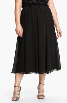 2caa97d1f18 Alex Evenings Chiffon Skirt (Plus Size)