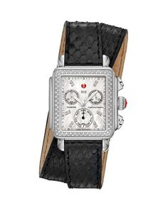 Deco Diamond Watch Head & 18mm Snake Double-Wrap Watch Band by MICHELE- I have to get this band for my Deco Diamond Michele.