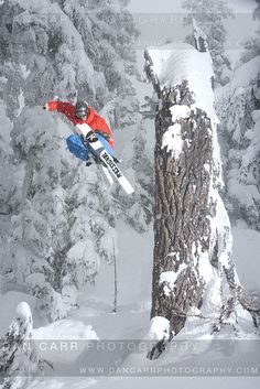 Skier Austin Ross in Whistler