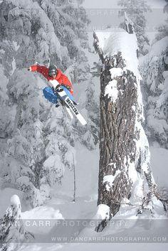 Skier Austin Ross in Whistler