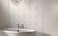 AuBergewohnlich Wohnideen Badezimmer Weiße Fliesen Florale Muster