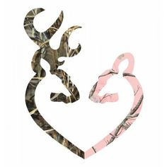 Camo Heart -r Deer Pink vinyl car bumper sticker 6