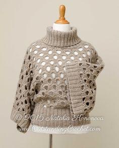 Crochet Sweater Pattern Knit or Crochet por OutstandingCrochet