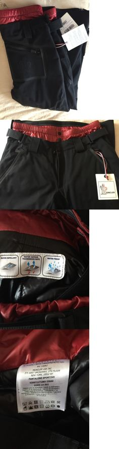 Snow Pants and Bibs 36261: New Moncler Grenoble Ski Pants Black Xl -> BUY IT NOW ONLY: $595 on eBay!