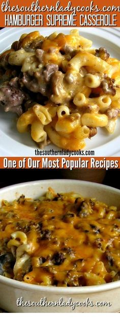 Hamburger supreme casserole is one of our most popular recipes. Throw this toget… Hamburger supreme casserole is one of our most popular recipes. Throw this together on a busy weeknight for a comfort food meal your family will enjoy. Hamburger Recipes Easy, Beef Casserole Recipes, Casserole Dishes, Pasta Casserole, Meals With Hamburger, Dinner Ideas Hamburger Meat, Homemade Hamburger Helper, Recipe For Ground Beef Casserole, Pasta Recipes Meat