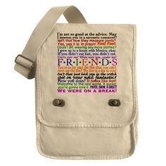 Friends Tv Show Bags & Totes | Personalized Friends Tv Show Bags ... Love these!!!