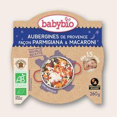 Assiette Bonne Nuit - Aubergines de Provence façon Parmigiana & Macaroni - dès 15 mois - Produit en France - Babybio