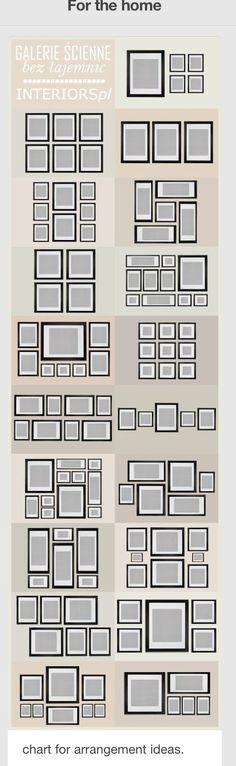 Ideas para colocar cuadros.
