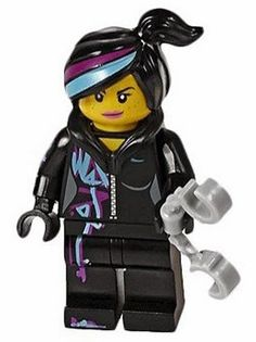 ticket taker- with everything is awesome shirts- LEGO® The LEGO Movie™ 70803 WYLDSTYLE with HAND CUFFS Minifigure NEW WILDSTYLE