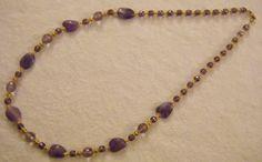 collana lunga con pietre dure ametista,e mezzo cristallo viola, by crys_e_cri, 35,00 € su misshobby.com