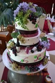 wedding cake wine -  wedding cake thème: les vignes