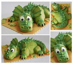 Young Dragon - by Com Amor & Carinho @ CakesDecor.com - cake decorating website