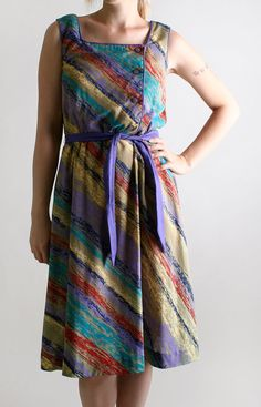 Colorful Vintage Dress from the 1970's from Zwzzy!
