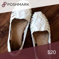 Espadrilles White leather worn once Shoes Espadrilles