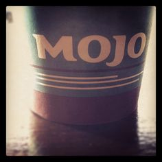 only Mojo coffee.. oh wait... is that a face there? ojo