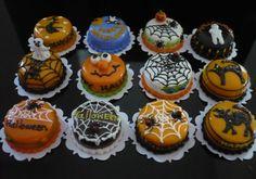 12 Halloween Cake Collection Dollhouse Miniatures Food Deco Holiday Season SET2 #handmade