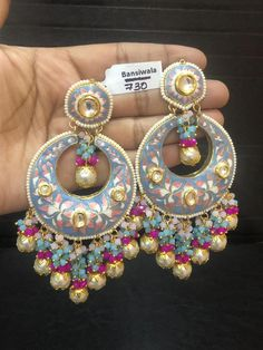 Indian Jewelry Earrings, Indian Jewelry Sets, Fancy Jewellery, Jewelry Design Earrings, Indian Wedding Jewelry, Gold Earrings Designs, Stylish Jewelry, Fashion Earrings, Fashion Jewelry