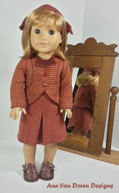 5 Piece outfit for 18 dolls such as American by AnnVanDorenDesigns