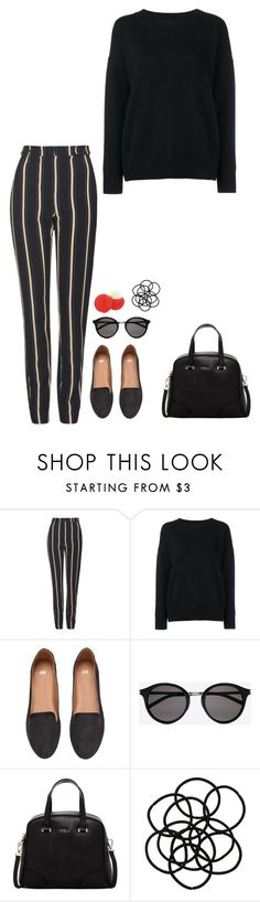 """Untitled #522"" by h1234l on Polyvore featuring Topshop, Frame Denim, H&M, Yves Saint Laurent, Furla, Eos, Monki, women's clothing, women and female"