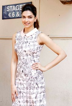 Deepika Padukone promoting 'Piku'.