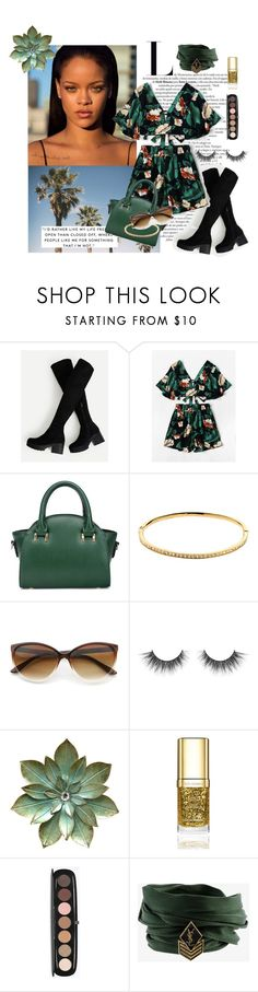 """""""Green/ Gold set"""" by vitoria-spiridon ❤ liked on Polyvore featuring Melissa Odabash, Dolce&Gabbana, Marc Jacobs and Yves Saint Laurent"""
