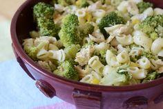 ChupChupChup: Ensalada de pasta con pollo, maíz y brócoli