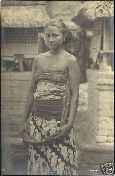indonesia, BALI, Beautiful Young Native Girl 1930s RPPC