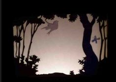 Scenes are simple to illustrate, and can even simply show the silhouette of the backdrop. The characters should be shown in more depth. Shadow Theatre, Puppet Theatre, Film D, Origami, Shadow Play, Shadow Puppets, Wood Patterns, Silhouette Vector, Art Plastique