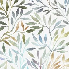 Vector foliage pattern, Vector Pattern, Vector Cartoon Pattern, Simple Patterns PNG and Vector Watercolor Leaves, Easy Watercolor, Watercolor Pattern, Watercolor Background, Floral Watercolor, Watercolour, Leaf Background, Background Patterns, Floral Texture