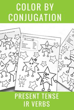 Practice conjugating verbs in a stress-free way! Great to review what your students know, and they love the chance to color! Click to see more.