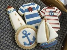 nautical baby shower biscuits