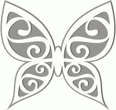 View Design #42040: butterfly cutout