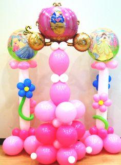 Princess Balloon Columns  Mylar Lewisville Highland Village Castle Hills Plano