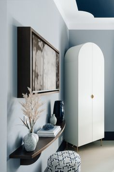Closet and side board at Hotel The Maximilian Side Board, Oversized Mirror, Shapes, Interiors, Closet, Furniture, Home Decor, Armoire, Decoration Home