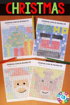 "These Christmas Math Color-by-Number activities are the perfect way to review key math skills this month! As one teacher said, ""My students loved the Halloween version of these activities! I used them as a ""Fun Friday"" math activity, and they had a blast!"" Available for 2nd, 3rd, 4th, or 5th grade. Christmas Worksheets, Christmas Activities For Kids, Kids Christmas, Xmas, Thanksgiving Activities, Classroom Fun, Classroom Activities, First Grade Math, Second Grade"