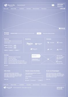 Wireframe of the Allia Hotels Website