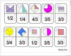 Dominó de fracciones (Aulapt.org) Teaching Fractions, Math Fractions, Teaching Math, Educational Activities For Kids, English Activities, Math Activities, Math 5, Math Games, Fraction Games