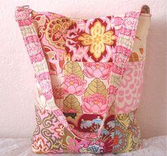 Amy Butler Fabric Patchwork Quilted Shoulder by JanasTotesandBags, $32.00